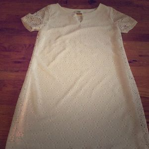 White dress, size medium. Cato brand. Knee length